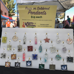 Resin and Soldered Pendants Display