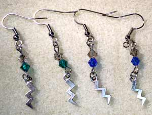 Harry Potter - Hogwarts Houses Earrings - Slytherin and Ravenclaw
